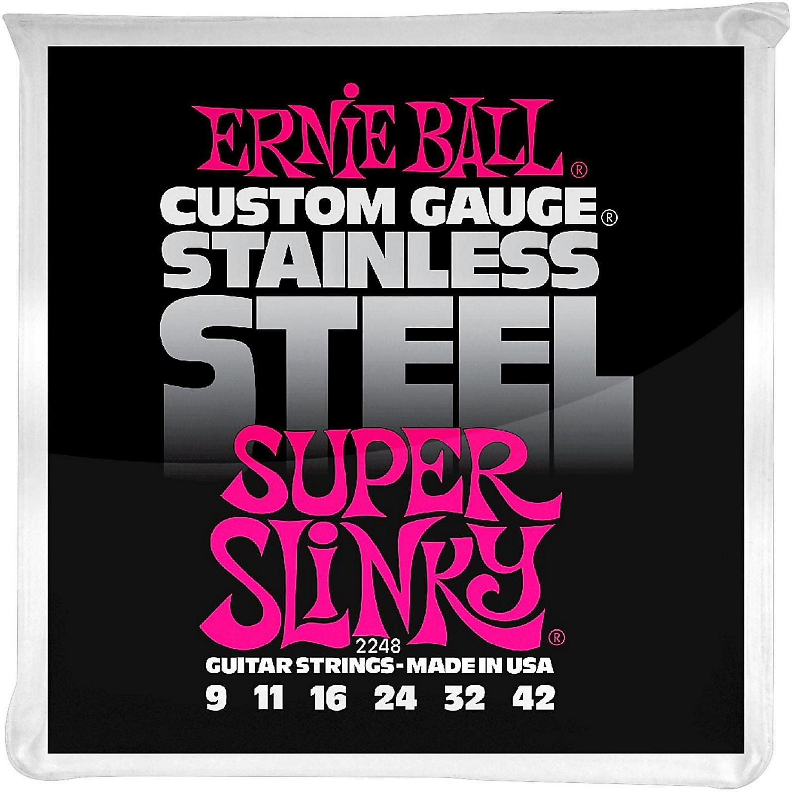 Ernie Ball 2248 Super Slinky Stainless Steel Electric Guitar Strings