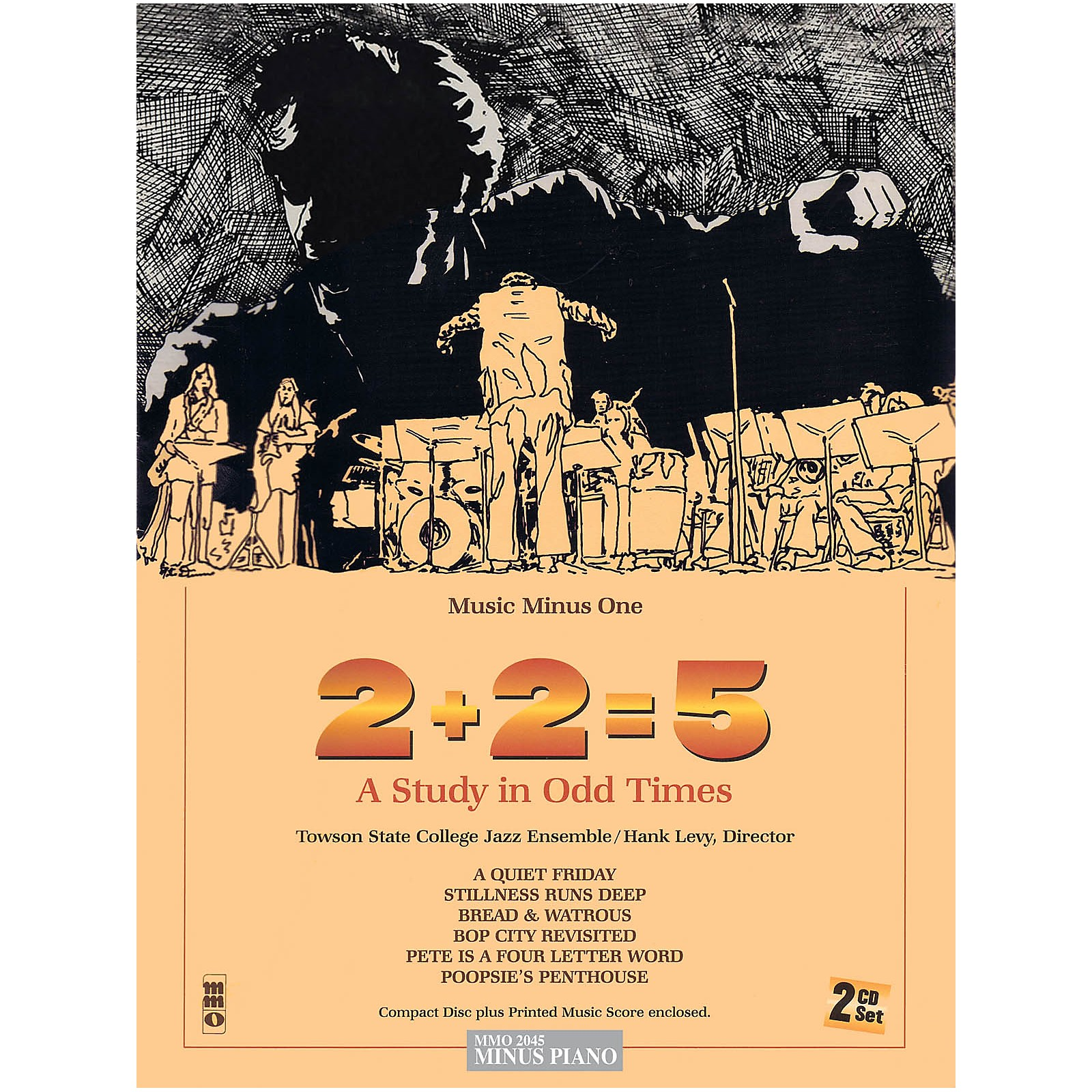 Music Minus One 2+2=5: A Study in Odd Times (Trombone Deluxe 2-CD Set) Music Minus One Series Softcover with CD