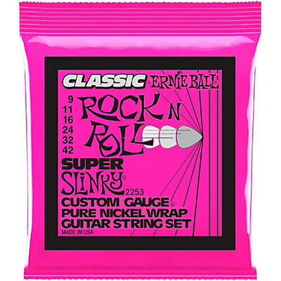 Ernie Ball 2253 Super Slinky Pure Nickel Electric Guitar Strings