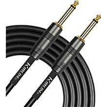"KIRLIN 22AWG Instrument Cable, Carbon Black, 1/4"" Straight to Straight"