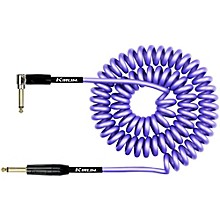 KIRLIN 22AWG Premium Coil Instrument Cable - Straight to Right Angle - Purple