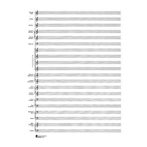 music sales 23 score pad 20 stave concert band passantino