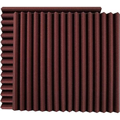 "Ultimate Acoustics 24"" Acoustic Panel - Wedge, Burgundy (2-Pack)"