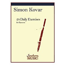 Southern 24 Daily Exercises for Bassoon (Bassoon) Southern Music Series by Simon Kovar