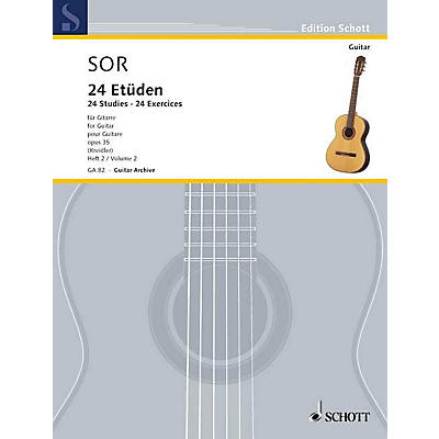 Schott 24 Etudes, Op. 35 (Volume 2: 12 Exercises) Schott Series