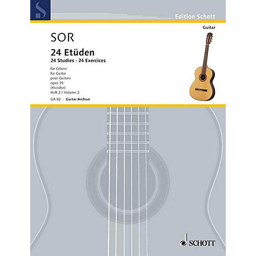 Schott 24 Etudes, Op. 35 (Volume 2: 12 Exercises) Schott Series