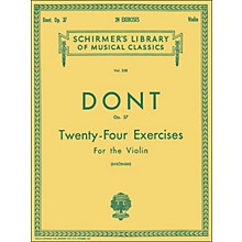 G. Schirmer 24 Exercises Op 37 Violin 24 By Dont