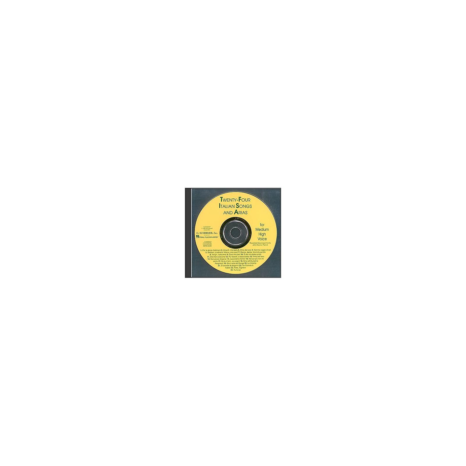 G. Schirmer 24 Italian Songs And Arias for Medium High Accompaniment CD