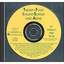 G. Schirmer 24 Italian Songs And Arias for Medium High Accompaniment CD