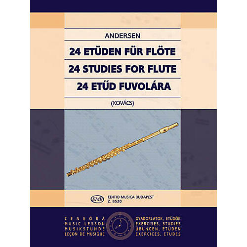 Editio Musica Budapest 24 Studies for Flute, Op. 15 EMB Series by Carl Joachim Andersen