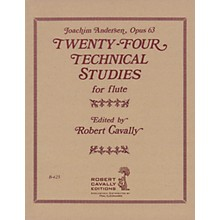 Hal Leonard 24 Technical Studies for Flute, Op. 63 Robert Cavally Editions Series Composed by Joachim Andersen
