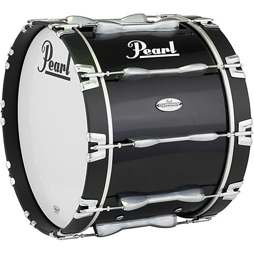 Pearl 24 x 14 in. Championship Maple Marching Bass Drum Midnight Black