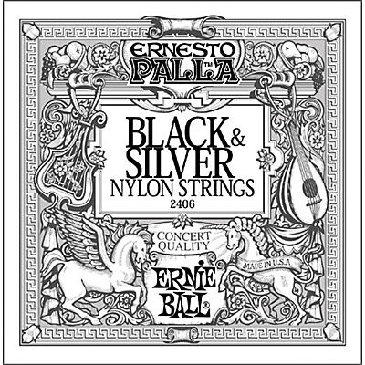 Ernie Ball 2406 Ernesto Palla Nylon Black and Silver Classical Acoustic Guitar Strings