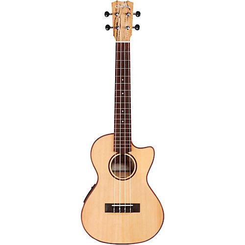 Cordoba 24T-CE Spruce Spalted Maple Cutaway Tenor Acoustic-Electric Ukulele Natural