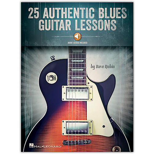 Hal Leonard 25 Authentic Blues Guitar Lessons Book/Audio Online