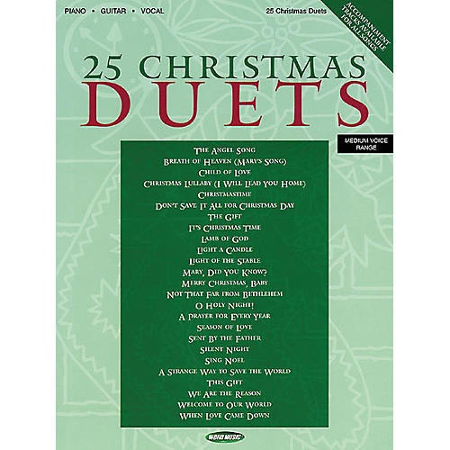 Word Music 25 Christmas Duets Piano/Vocal/Guitar Songbook