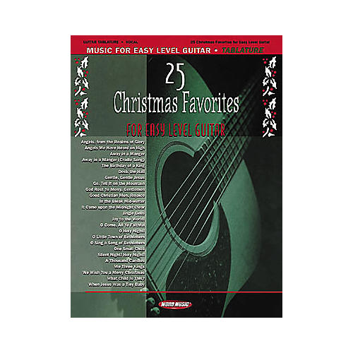 Word Music 25 Christmas Favorites for Easy Level Guitar Book