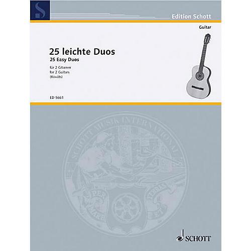 Schott 25 Easy Guitar Duets (Performance Score) Schott Series