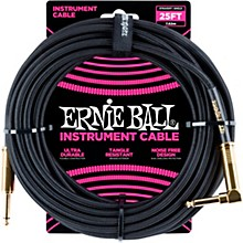 25 FT Straight to Angle Instrument Cable Black/Black