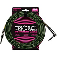 25 FT Straight to Angle Instrument Cable Black and Green