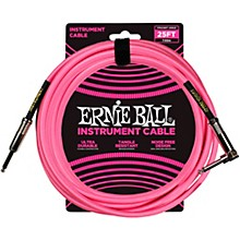 25 FT Straight to Angle Instrument Cable Neon Pink