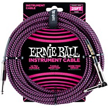 25 FT Straight to Angle Instrument Cable Neon Purple/Black