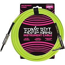 25 FT Straight to Angle Instrument Cable Neon Yellow