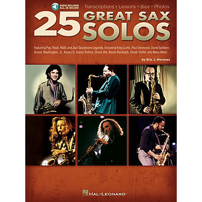 Hal Leonard 25 Great Sax Solos Sax Instruction Series Softcover Audio Online Written by Eric J. Morones