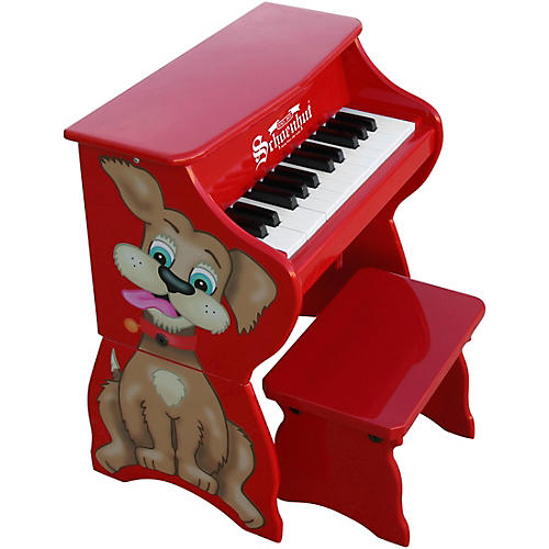Schoenhut 25-Key Toy Piano with Bench Red