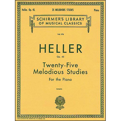 G. Schirmer 25 Melodious Studies Piano Op 45 By Heller