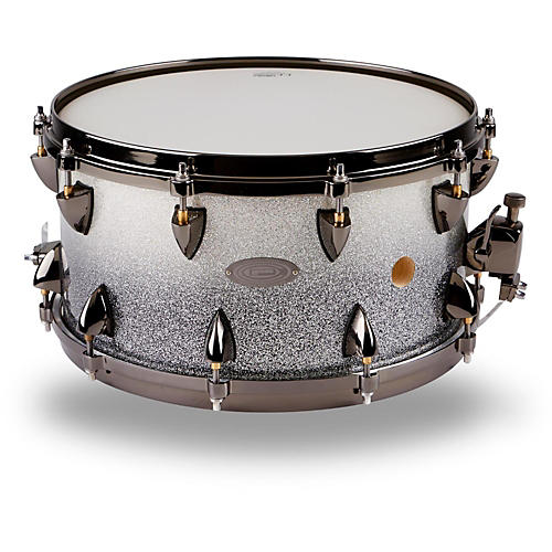 Orange County Drum & Percussion 25-Ply Maple Vented Snare Drum 14 x 7 in. Silver Sparkle Fade