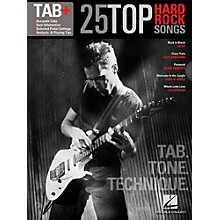 Hal Leonard 25 Top Hard Rock Songs  Tab, Tone & Technique Guitar Tab Songbook