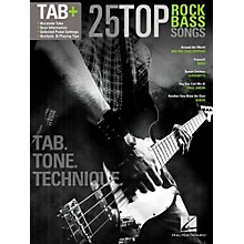 Hal Leonard 25 Top Rock Bass Songs - Tab. Tone. & Technique. (Tab+)