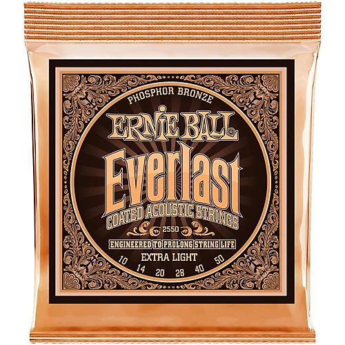 Ernie Ball 2550 Everlast Phosphor Extra Light Acoustic Guitar Strings