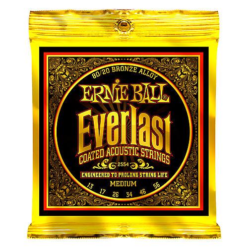 Ernie Ball 2554 Everlast 80/20 Bronze Medium Acoustic Guitar Strings