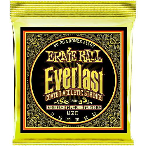Ernie Ball 2558 Everlast 80/20 Bronze Light Acoustic Guitar Strings