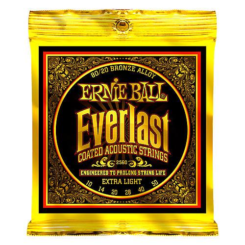 Ernie Ball 2560 Everlast 80/20 Bronze Extra Light Acoustic Guitar Strings