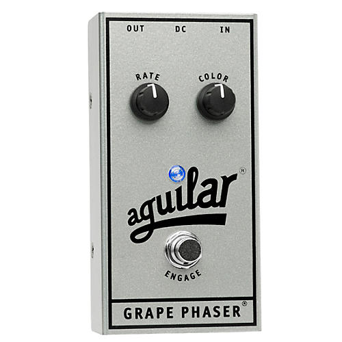 Aguilar 25th Anniversary Grape Phaser Bass Effects Pedal Silver