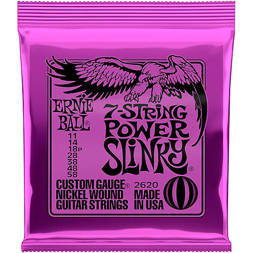 Ernie Ball 2620 Nickel 7-String Power Slinky Electric Guitar Strings