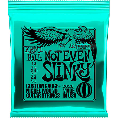 ernie ball 2626 nickel not even slinky drop tuning electric guitar strings musician 39 s friend. Black Bedroom Furniture Sets. Home Design Ideas