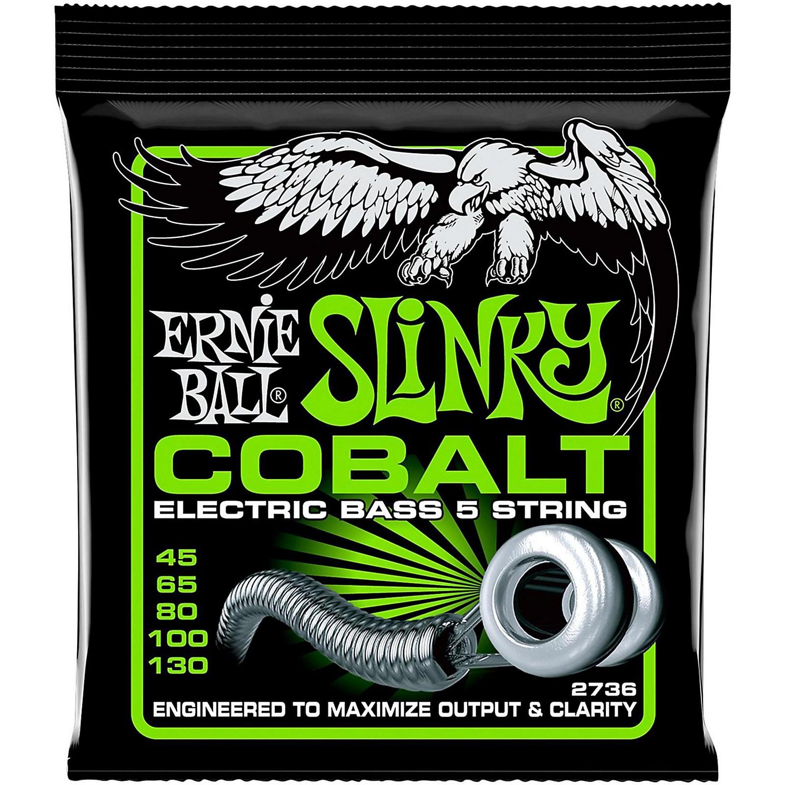 Ernie Ball 2736 Cobalt Regular Slinky 5-String Electric Bass Strings