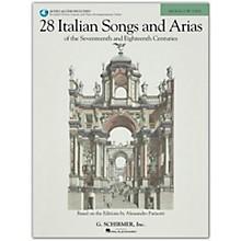 G. Schirmer 28 Italian Songs And Arias for Medium Low Book/Online Audio