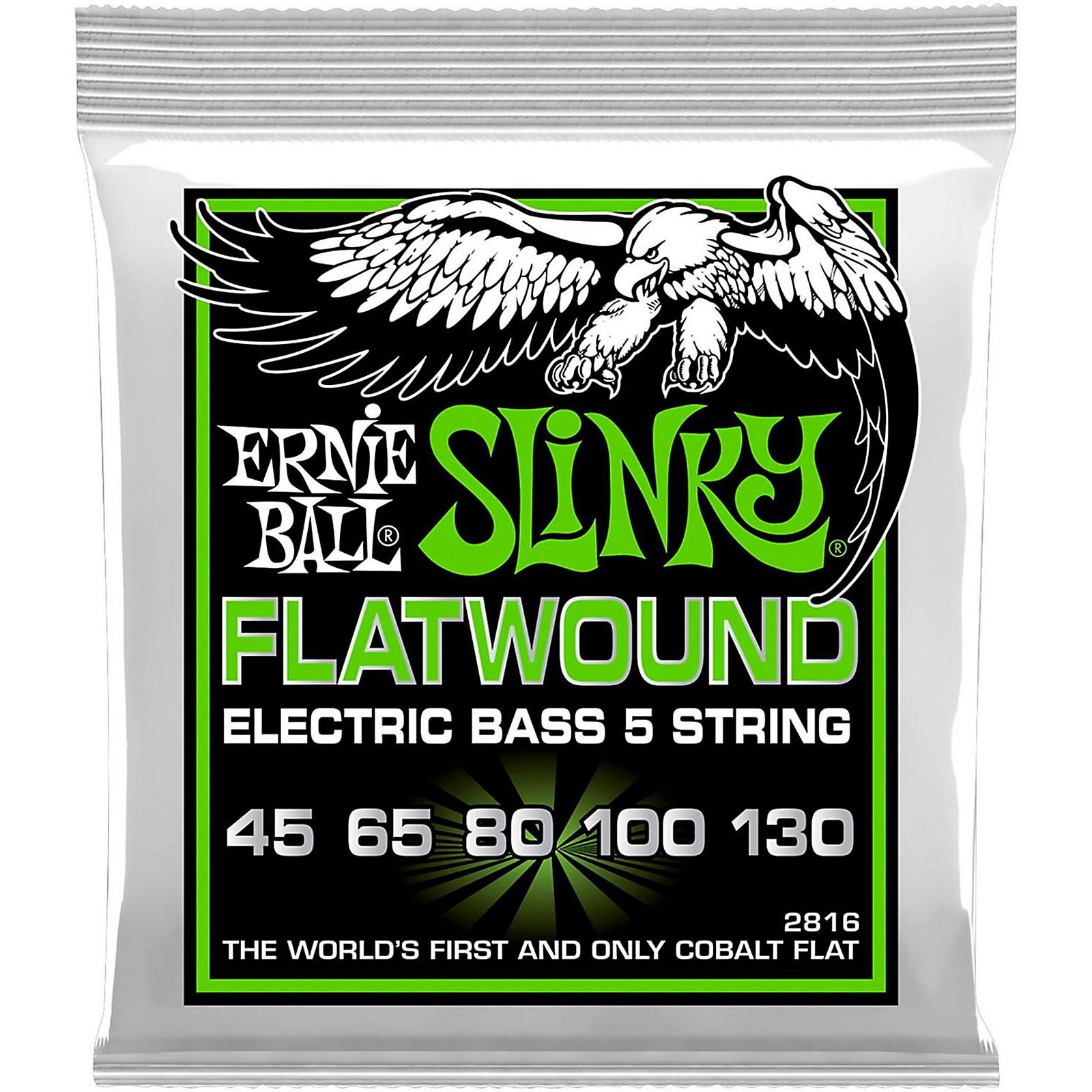 Ernie Ball 2816 Slinky Flatwound 5-String Bass Strings