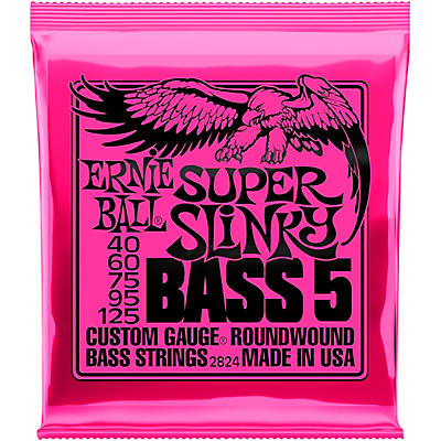 Ernie Ball 2824 Super Slinky 5-String Bass Strings