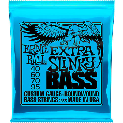 Ernie Ball 2835 Extra Slinky Round Wound Bass Strings