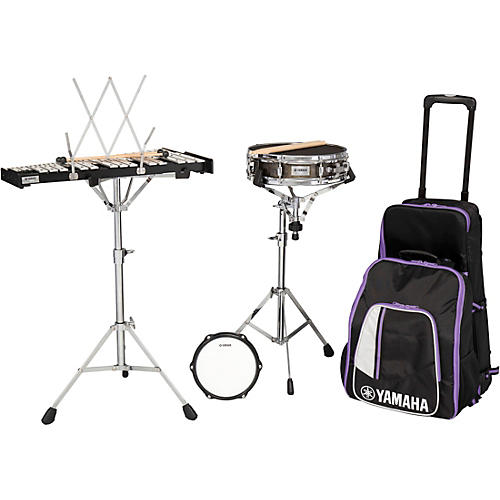 Yamaha 285 Series Mini Snare and Bell Kit with Backpack and Rolling Cart
