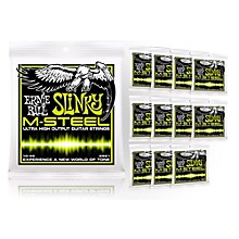 Ernie Ball 2921 M-Steel Regular Slinky Electric Guitar Strings - Buy 10, Get 2 FREE