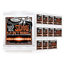 Ernie Ball 2922 M-Steel Hybrid Slinky Electric Guitar Strings - Buy 10, Get 2 FREE