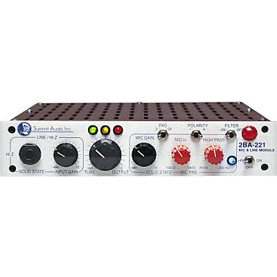 Summit Audio 2BA-221 Tube Mic and Line Module