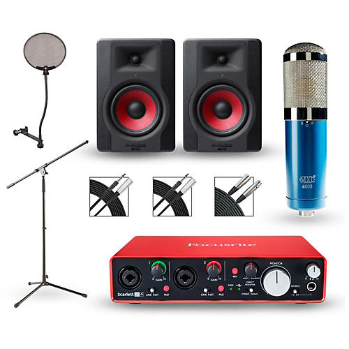 Focusrite 2i2 2nd Gen Interface with MXL 4000 and M-Audio Limited Edition BX5 Pair
